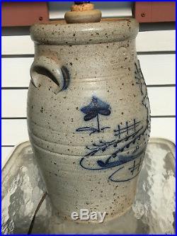 Rowe Pottery Works Reindeer Large Table Lamp Salt Glazed