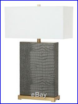 Safavieh Table Lamp, Large Lamp, Grey Table Lamp, Designer Lighting