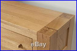 Solid Wood Chunky Oak Large Telephone Lamp Hall Console Table Brampton Range