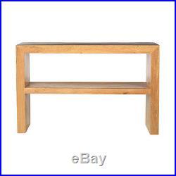 Solid Wood Chunky Oak Large Telephone Lamp Hall Console Table Havana Range