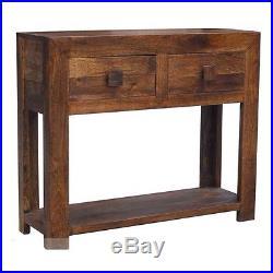 Solid Wood Walnut Large Lamp Telephone Hall Console Table Stand Dakota Range