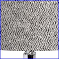 Stylish Large Glass Urn Table Lamp Stylish Bulb Shaped Base Chrome Detailing