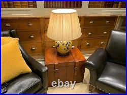 Superb Ralph Lauren Mustard yellow extra large oriental table lamp rrp £1200