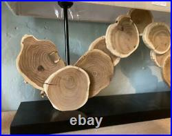 Table / Desk Lamp Natural Wood Centrepiece Contemporary Design Large
