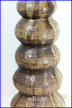 Table Lamp A Very Large Vintage Studio Pottery Ceramic Late 1970s Very Retro