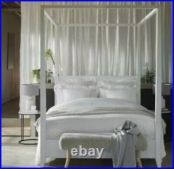 The White Company Ceramic Large Bottle Table Lamp Grey/White Home Lighting Decor