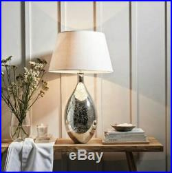 The White Company Large Mercury Table Silver Lamp Home Lighting RRP £180
