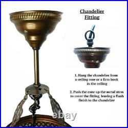 Turkish Moroccan Large Glass Mosaic Chandelier 5 Ball Lamp Light Hanging UK
