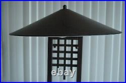 Vintage Large Pair Oriental Table Lamps Mid Century