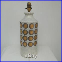 Vintage Mid Century Modern Large Bitossi Ikano Aldo Londi Pottery Table Lamp