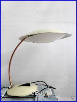 Vintage Original Large Flying Saucer Desk Lamp Mid Century Space Age Table Lamp