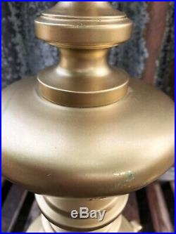 Vintage Pair Large Designer Peter Martin Table Hall Lamps