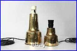 Vtg Danish Mid-Century Modern Cohr'Conica' Brass Table Lamp Hans Bunde Design