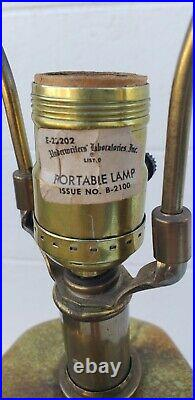 Vtg Mid Century LARGE Drip Glaze Octagon Genie Bottle Lamp perfect! 36 x 10