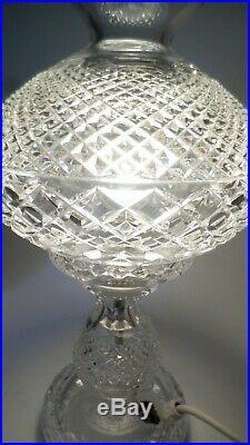 Waterford Crystal Table Lamp Beautiful Large 35cm w Original Box inc UK P+P