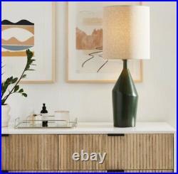 West Elm Asymmetry Ceramic Table Lamps Large, BLACK