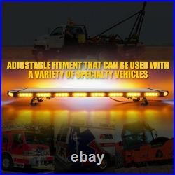 Xprite 48 Amber LED Strobe Light Bar Rooftop Emergency Warning Control Panel